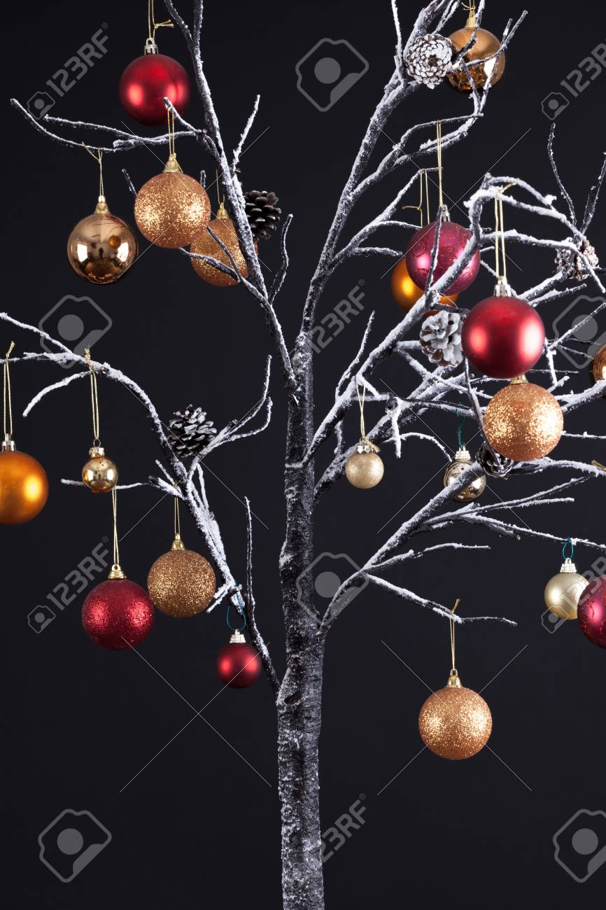 modern christmas tree with