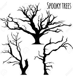 collection of spooky trees silhouettes on the white background stock vector 86963745 [ 1300 x 1300 Pixel ]