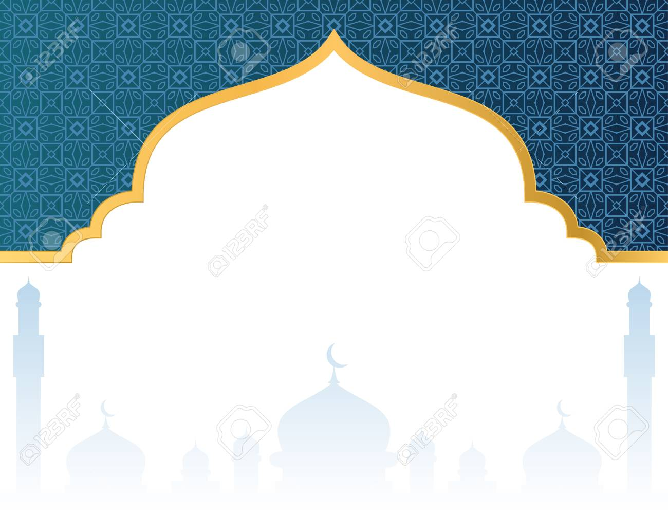 blank islamic background with