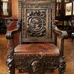 Antique Wooden Chairs Pictures Folding Costco This Chair Sits In The Grand Garrison Library Stock Photo Gibraltar