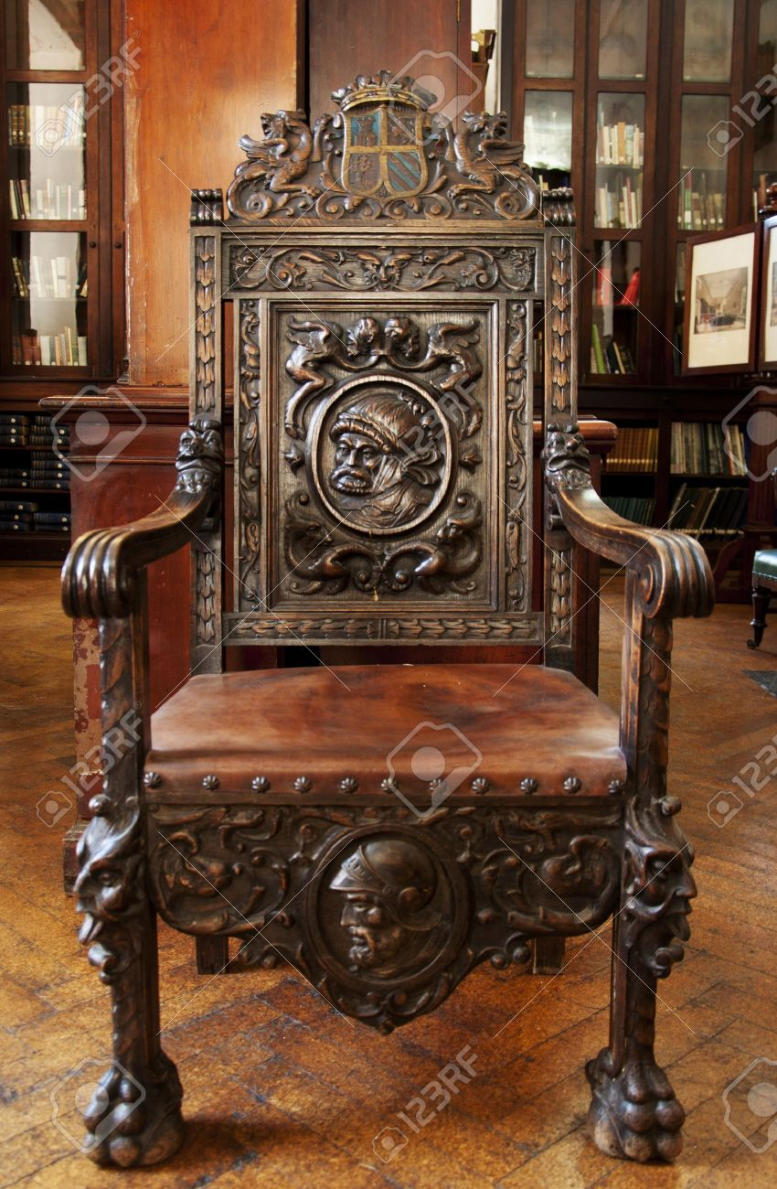 antique wood chair folding plans this wooden sits in the grand garrison library stock photo gibraltar