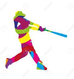 abstract colorful baseball batter stock vector 38567068 [ 1300 x 1300 Pixel ]