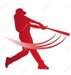 red vector baseball batter stock vector 43147687 [ 1300 x 1300 Pixel ]