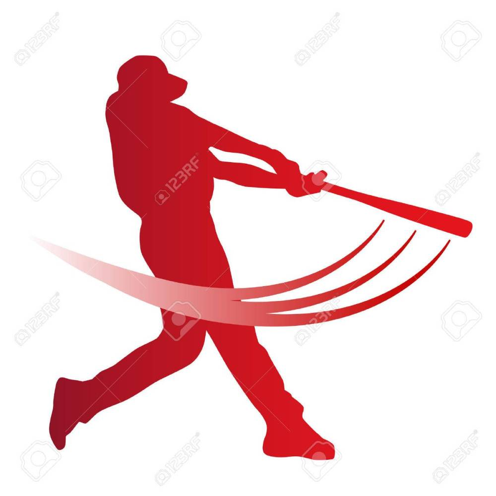 medium resolution of red vector baseball batter stock vector 43147687