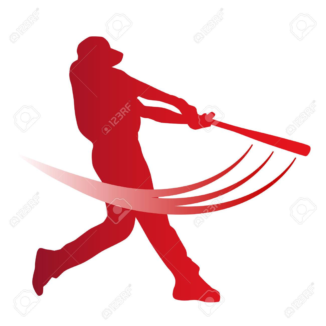 hight resolution of red vector baseball batter stock vector 43147687