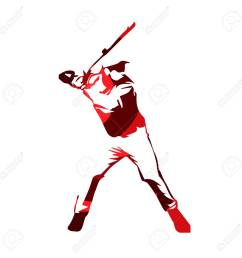 abstract red baseball player vector isolated illustration baseball batter stock vector 68605627 [ 1300 x 1300 Pixel ]