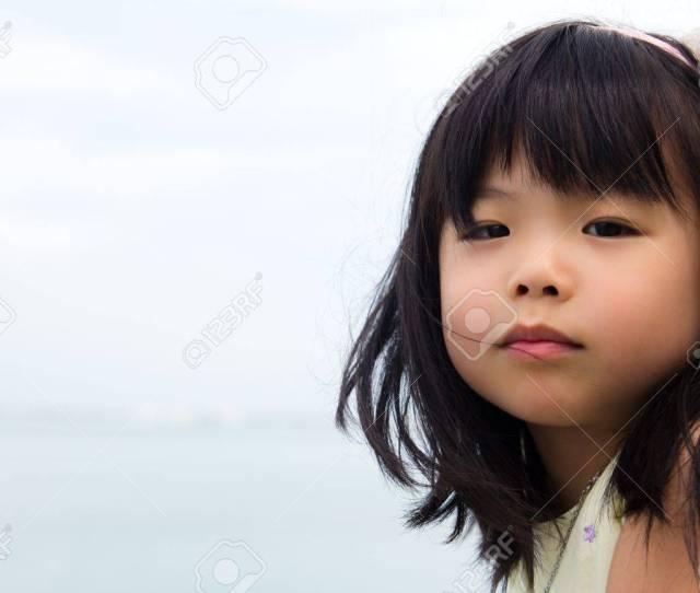 Portrait Of Little Asian Girl Child Stock Photo 11533330