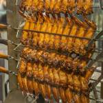 Roasted Chicken Wings On Grilling Machine In Chinese Restaurant Stock Photo Picture And Royalty Free Image Image 140114409