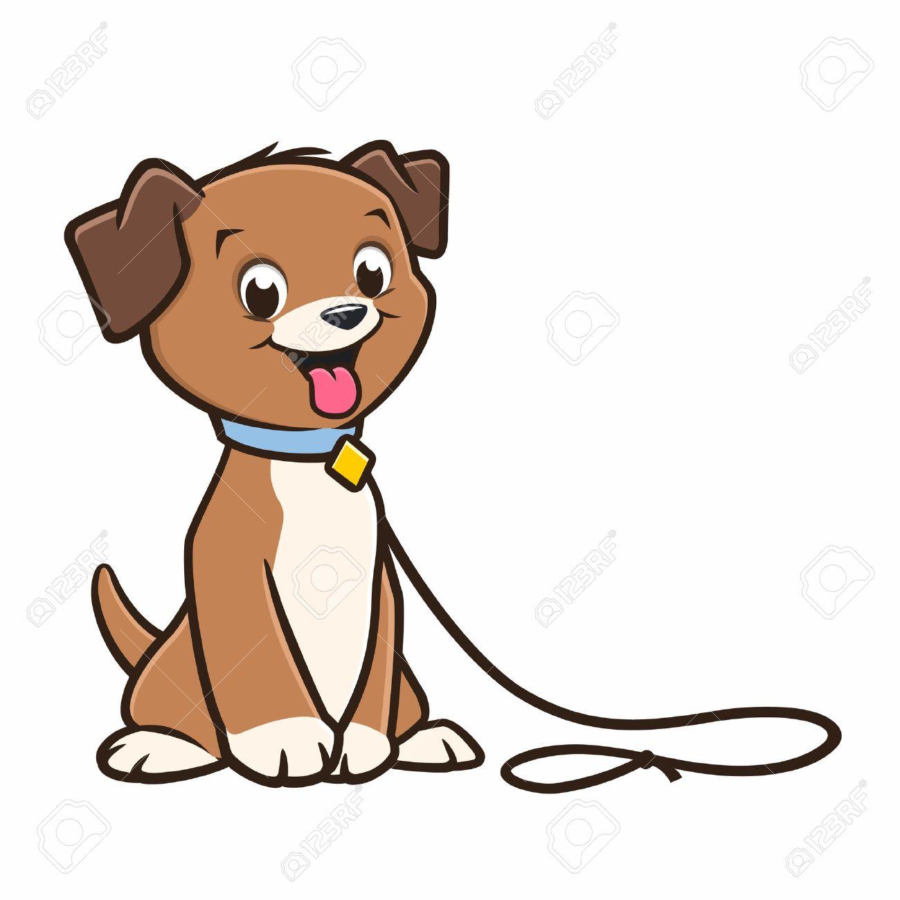 vector cartoon cute puppy