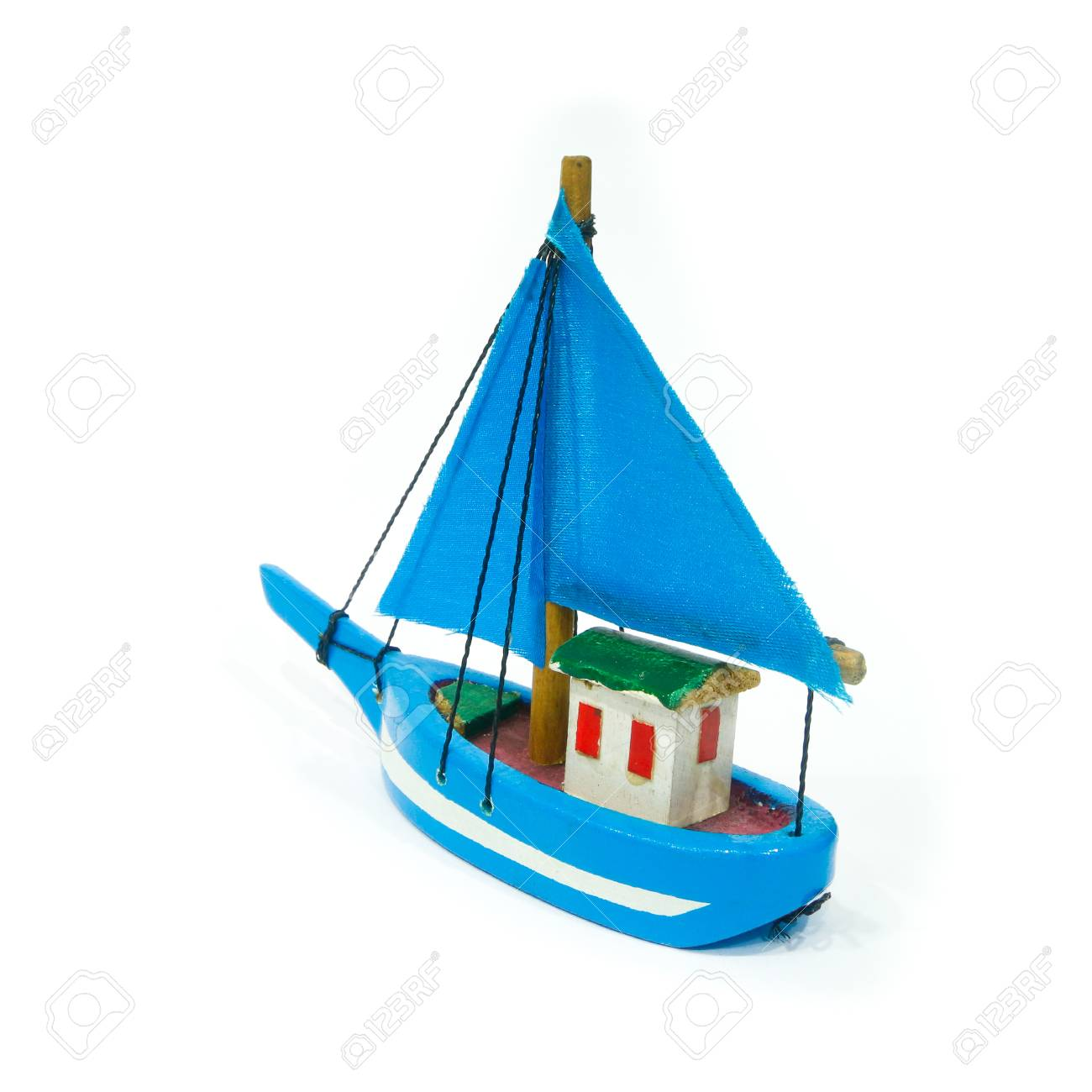 boat toy blue sail