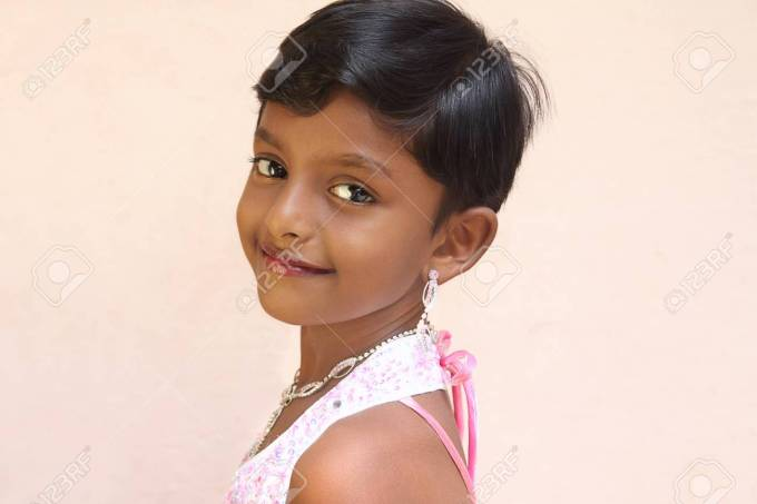 smiling indian cute little girl