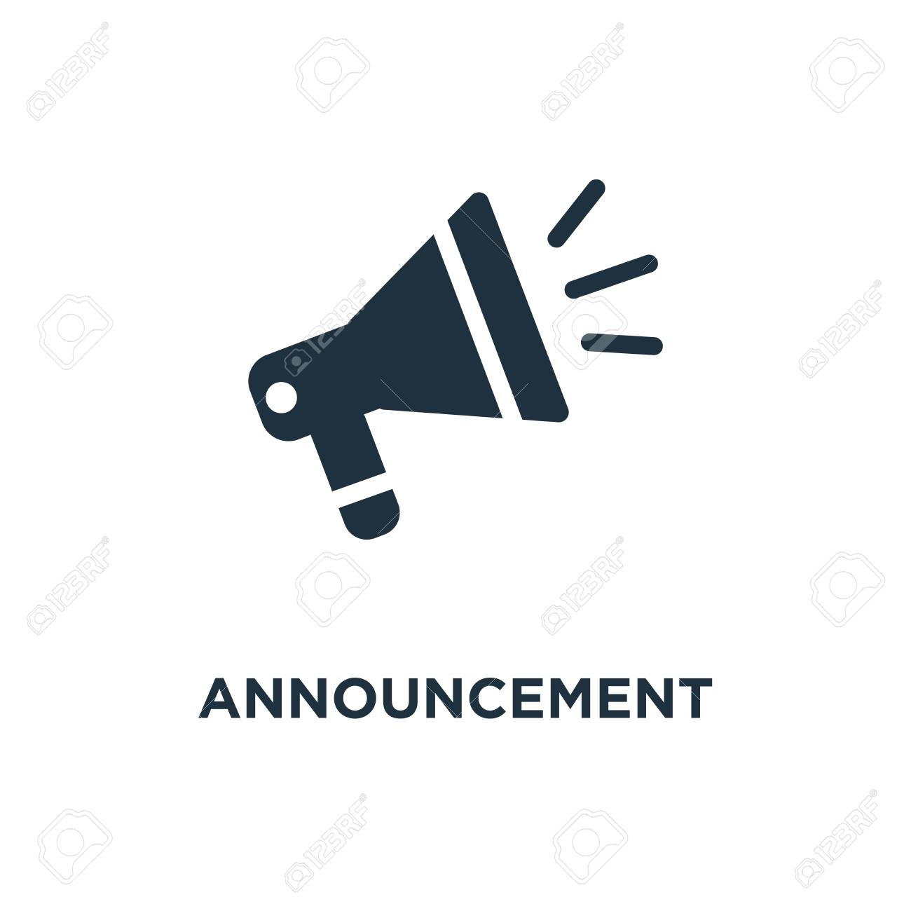 announcement icon black filled