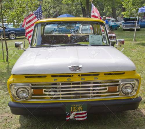small resolution of stock photo waupaca wi august 25 front of 1961 ford unibody f100 truck at the 10th annual waupaca rod classic car club car show on august 25