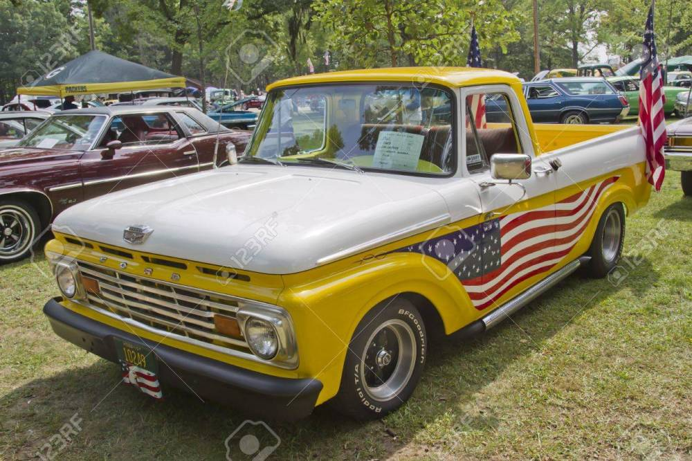 medium resolution of stock photo waupaca wi august 25 1961 ford unibody f100 truck at the 10th annual waupaca rod classic car club car show on august 25 2012 in waupaca