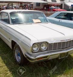 iola wi july 13 1964 white chevy impala ss car at iola 41st [ 1300 x 910 Pixel ]