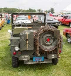 iola wi july 11 back of 1942 willys army jeep at iola 43nd [ 1300 x 866 Pixel ]