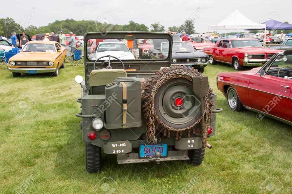 medium resolution of iola wi july 11 back of 1942 willys army jeep at iola 43nd