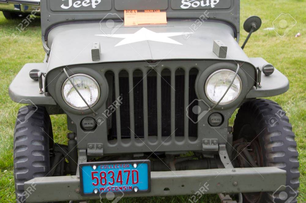 medium resolution of iola wi july 11 grill of 1942 willys army jeep at iola 43nd