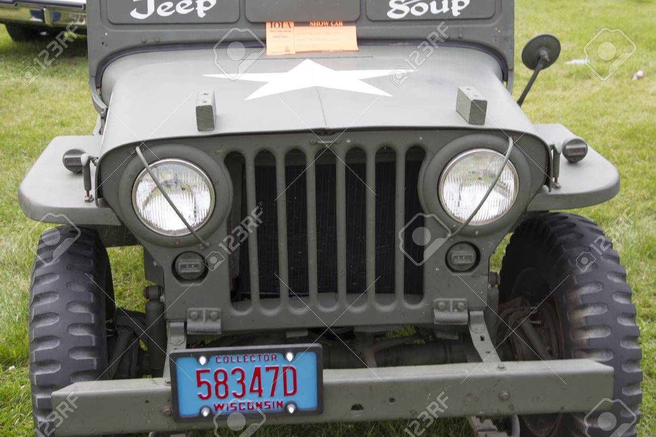 hight resolution of iola wi july 11 grill of 1942 willys army jeep at iola 43nd