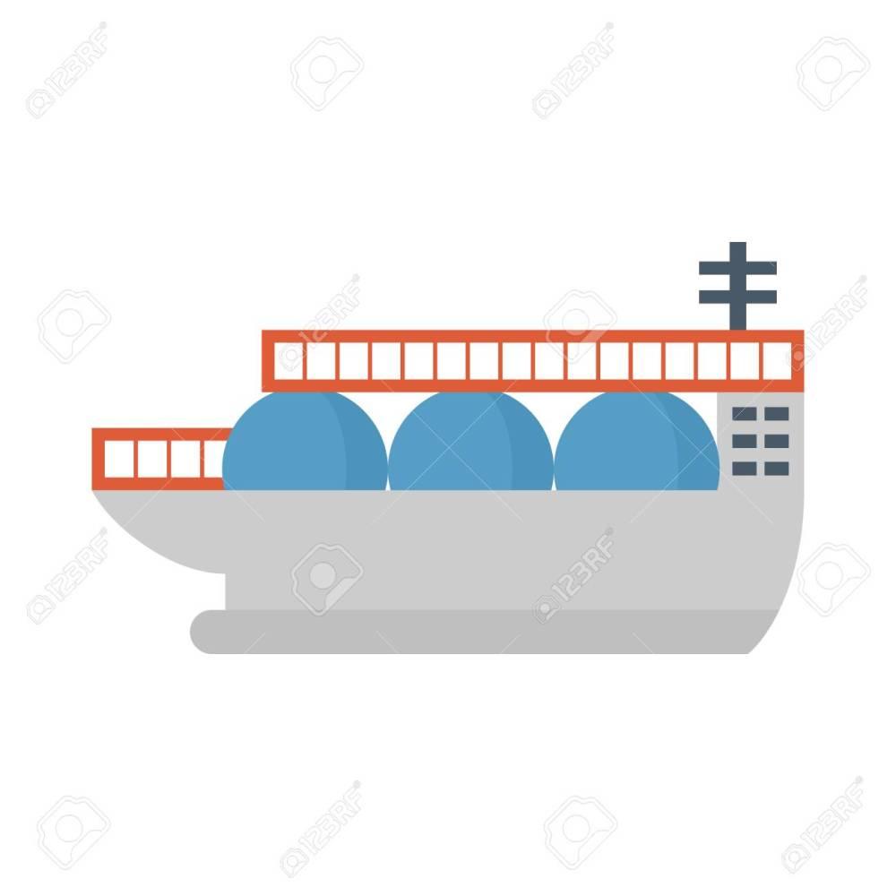 medium resolution of natural gas shipping and cargo ship icon stock vector 124654315