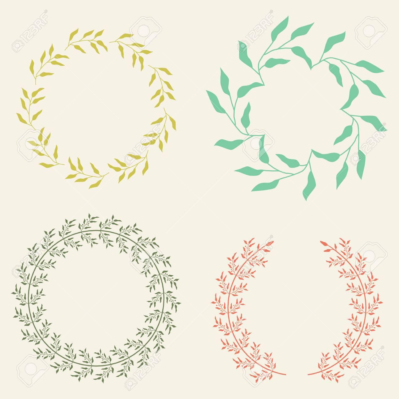 vector laurel wreaths collection
