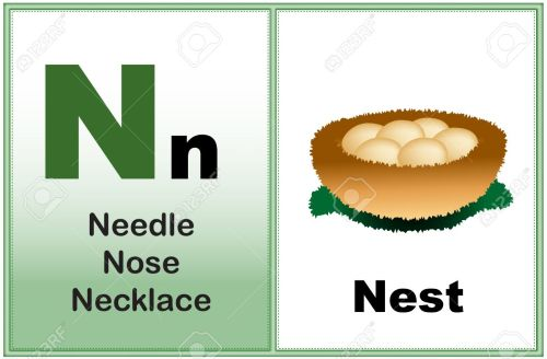 small resolution of alphabet letter n with clip art and few similar words starting with the letter printable