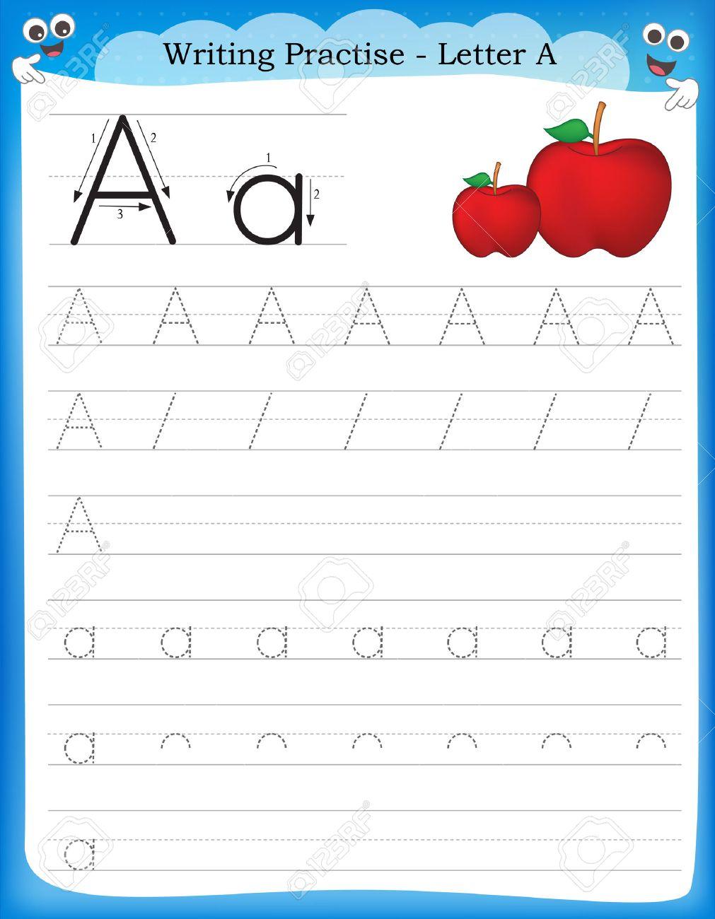 Writ G Pr Ctice Letter Pr T Ble W Ksheet Preschool