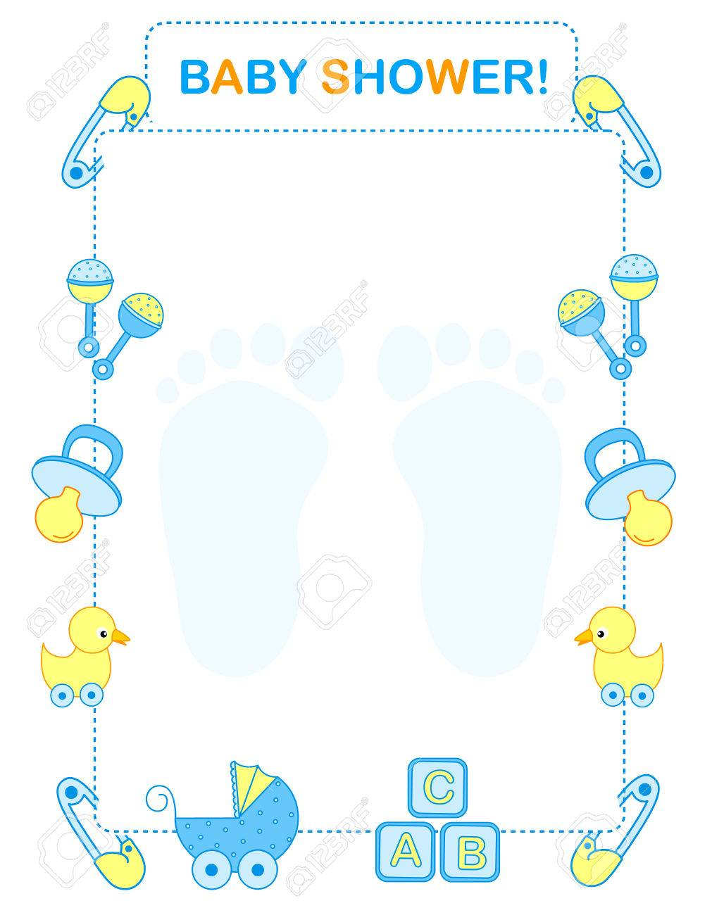Babyshower Borders : babyshower, borders, Illustration, Shower, Invitation, Arrival.., Royalty, Cliparts,, Vectors,, Stock, Illustration., Image, 38545893.