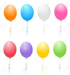 colorful balloons clipart isolated on white background stock vector 38545904 [ 1299 x 1300 Pixel ]