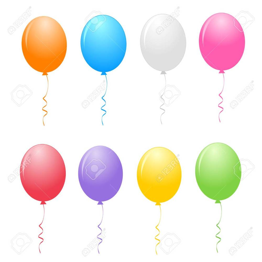 medium resolution of colorful balloons clipart isolated on white background stock vector 38545904
