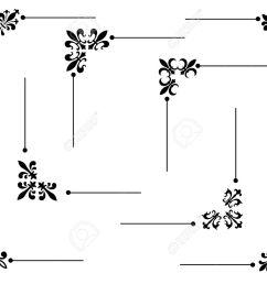 clip art collection of different decorative fleur de lis page corners edges collection stock vector [ 1300 x 1011 Pixel ]