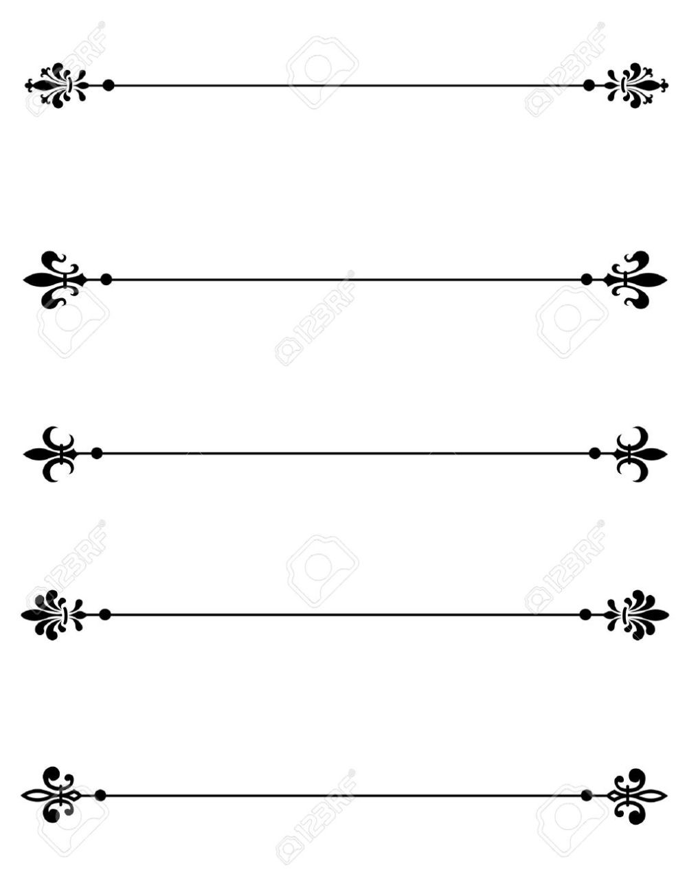 medium resolution of clip art collection of different decorative fleur de lis page dividers border collection stock vector