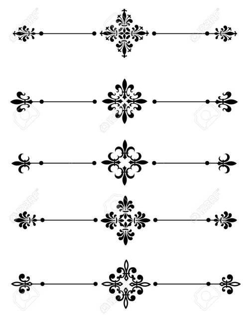 small resolution of clip art collection of different decorative fleur de lis page dividers border collection stock vector
