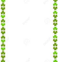 patrick s day background border stock vector 38909904 [ 1029 x 1300 Pixel ]