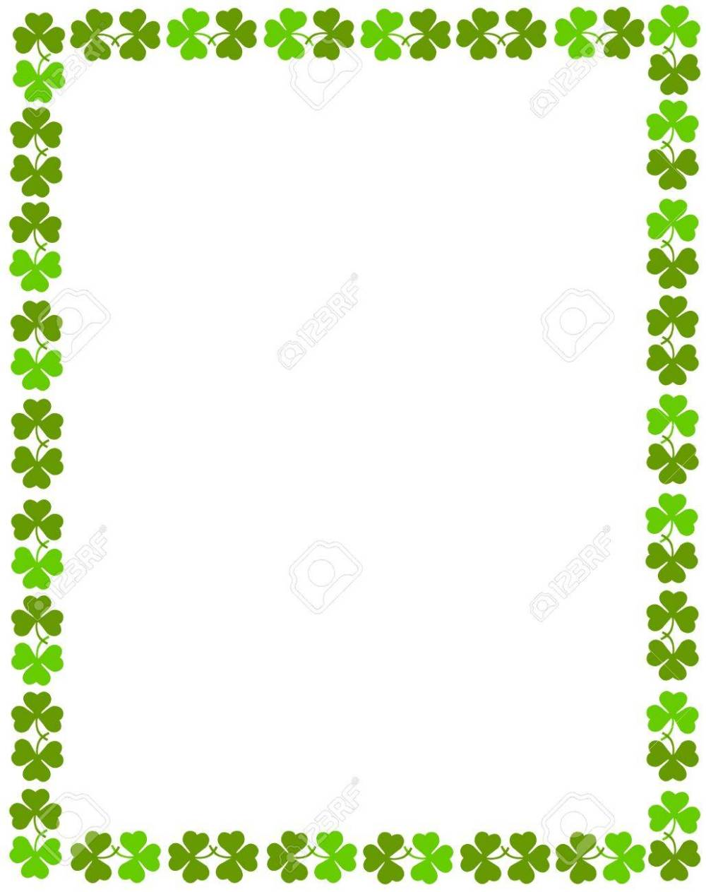medium resolution of patrick s day background border stock vector 38909904