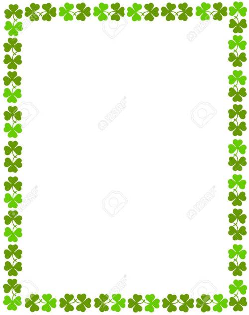 small resolution of patrick s day background border stock vector 38909904