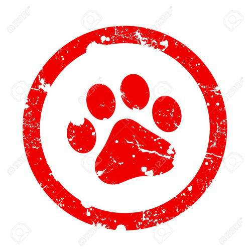 small resolution of red paw print inside circle frame grunge clipart isolated on white background paw print stamp