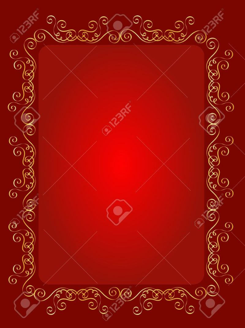 Wedding Invitation Background Designs Red And Gold | Invitationsjdi.org
