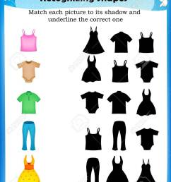 Worksheet Match Picture With Their Correct Shadow Royalty Free Cliparts [ 1300 x 1011 Pixel ]