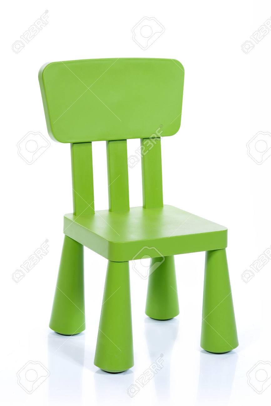 toddler plastic chairs best concert lawn green children chair isolated on white background stock photo 44187070