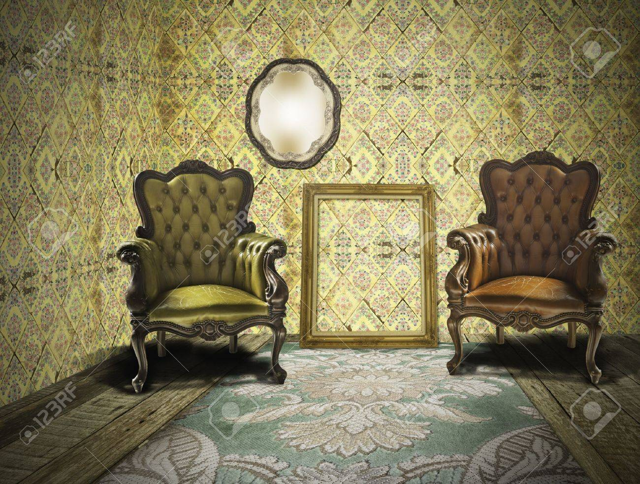 retro and vintage room
