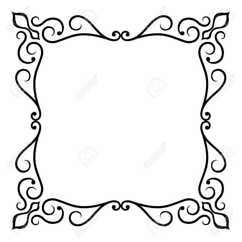 Enchanting Ornate Vector Frame Ornament - Custom Picture Frame Ideas ...