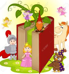 book with characters from fairy tales stock vector 58942512 [ 1300 x 1300 Pixel ]