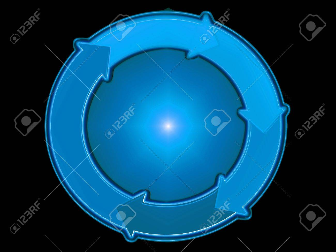 hight resolution of blue spher circle arrow arrows flow rotation graphic