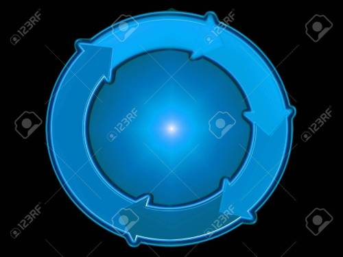 small resolution of blue spher circle arrow arrows flow rotation graphic
