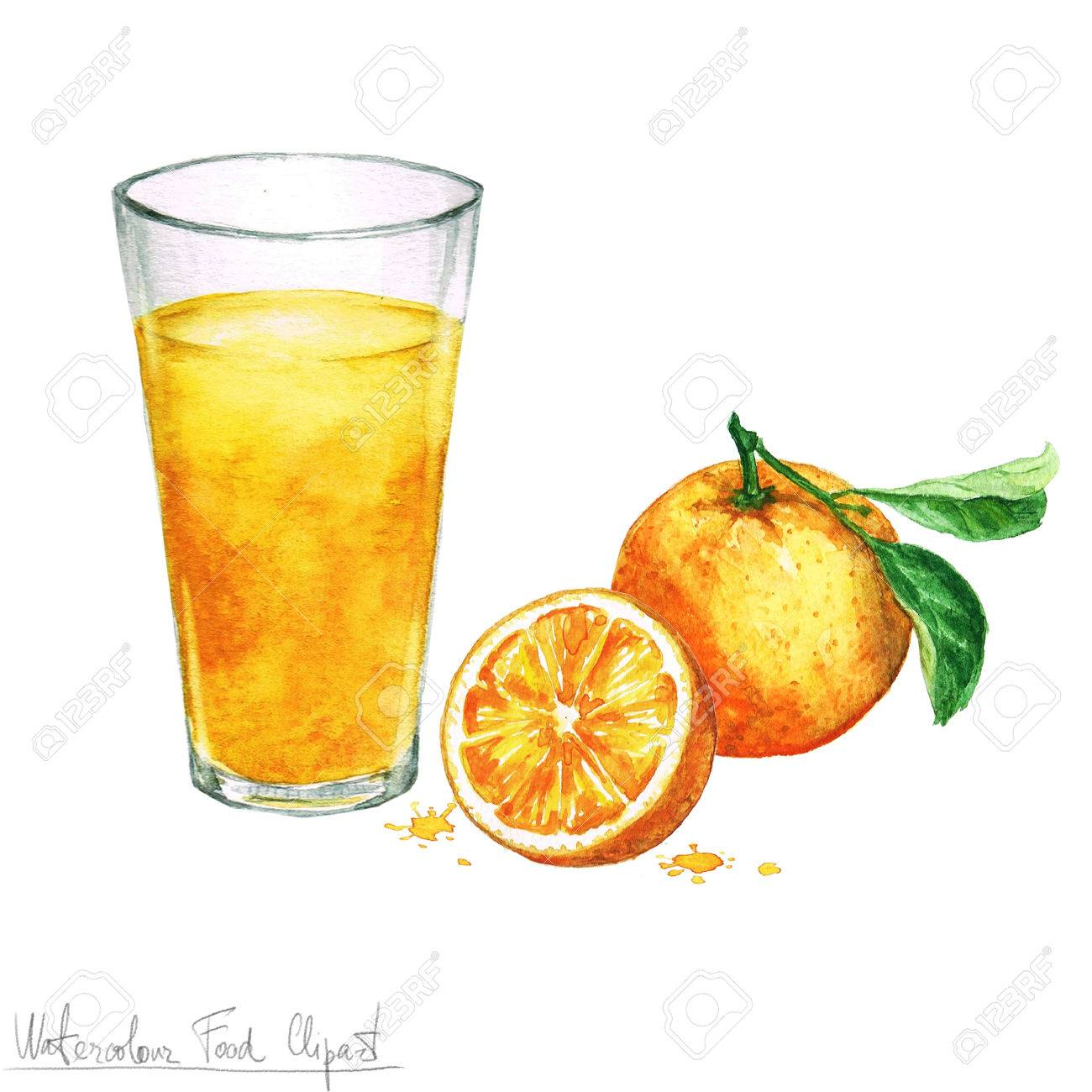 hight resolution of stock photo watercolor food clipart orange juice