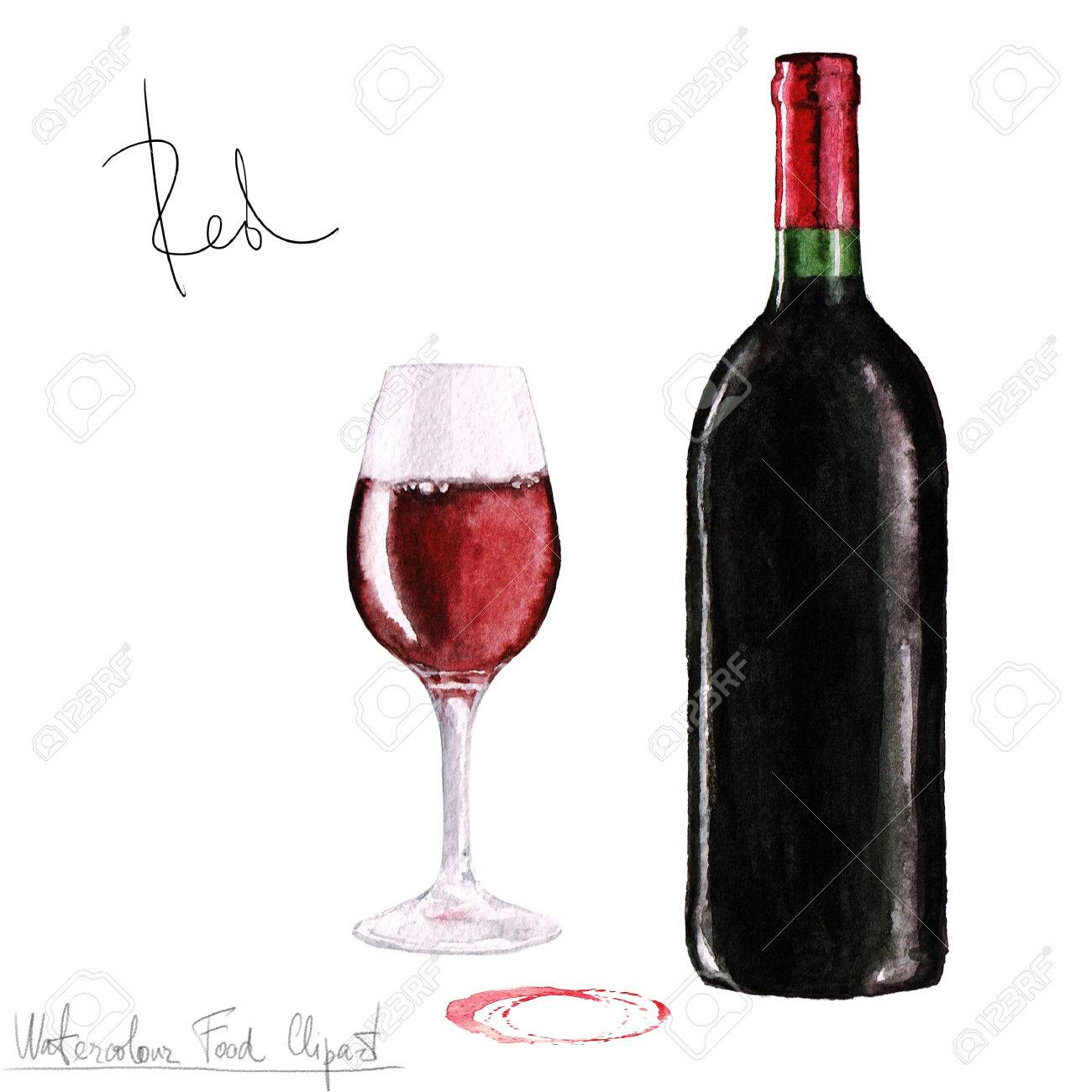hight resolution of stock photo watercolor food clipart wine