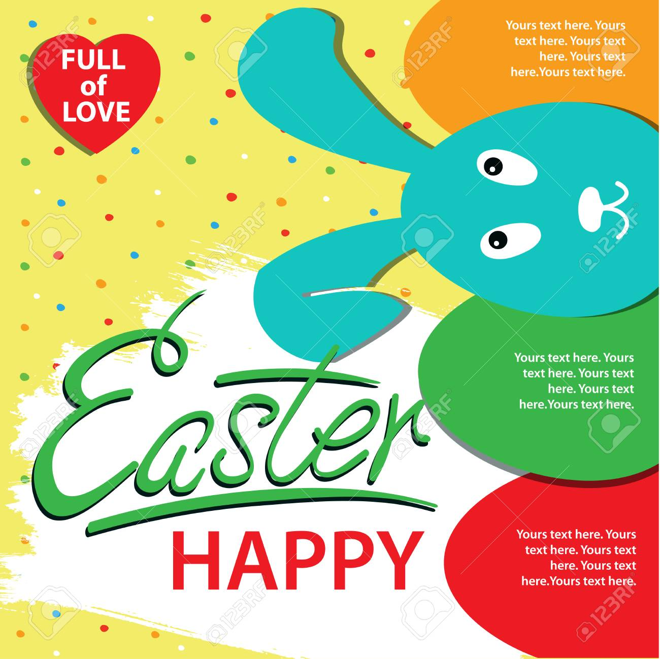 happy easter infographics poster