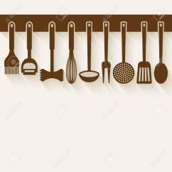 Kitchen Utensil Set Buy Sink Vector Illustration Royalty Free Cliparts Stock 41909196