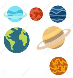 space planets cartoon or space planets clipart cartoon isolated on white background illustration stock vector  [ 1300 x 1300 Pixel ]